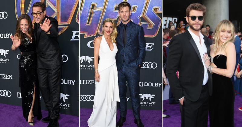 Avengers Endgame World Premiere Sees Marvel Stars Robert Downey Jr