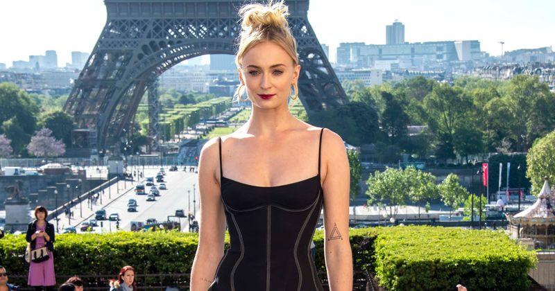 'Game of Thrones' star Sophie Turner stuns in black mini dress as she promotes her upcoming film 'X-Men: Dark Pheonix' in Paris