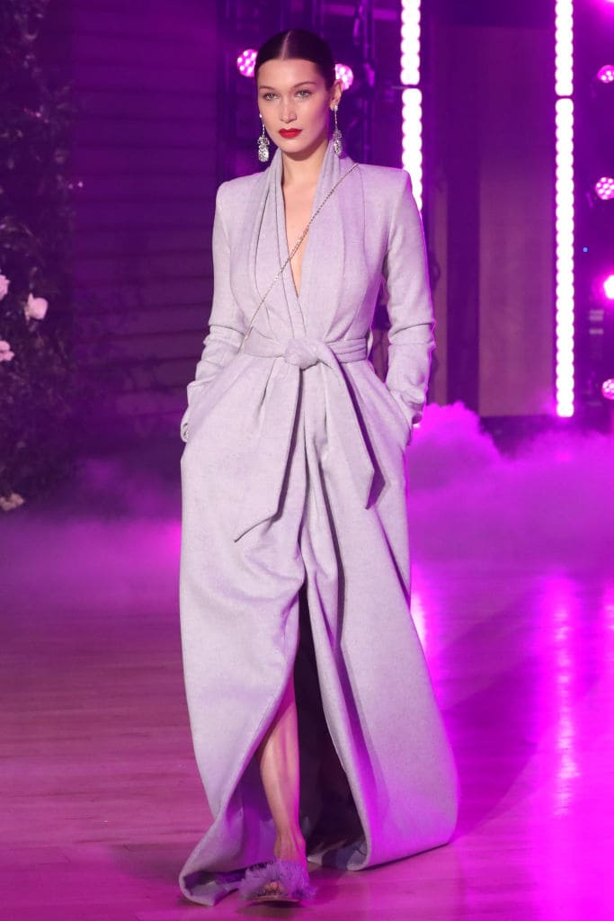 Bella Hadid walks the runway at Brandon Maxwell Fall Winter 2018 Collection (Getty Images)