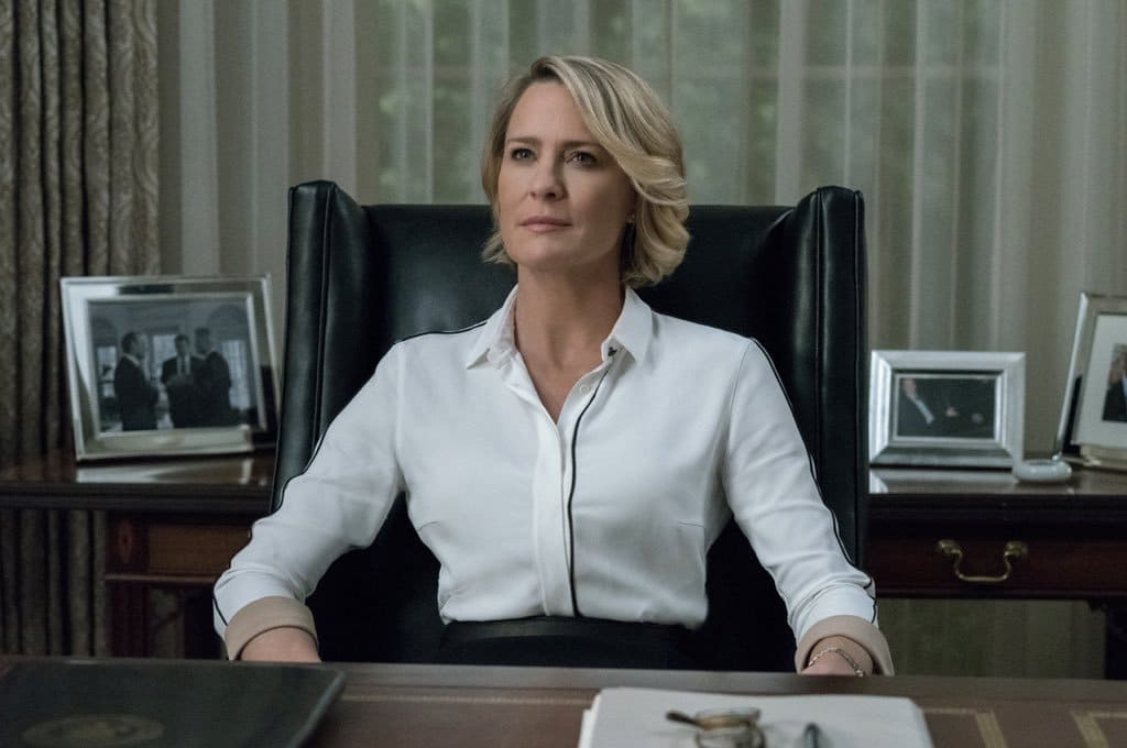Robin Wright's character Claire Underwood will lead the show's sixth season to completion. (Twitter)