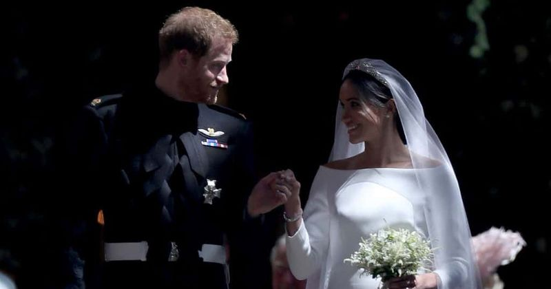 Prince Harry and Meghan Markle celebrate first wedding anniversary with unseen pictures from their wedding