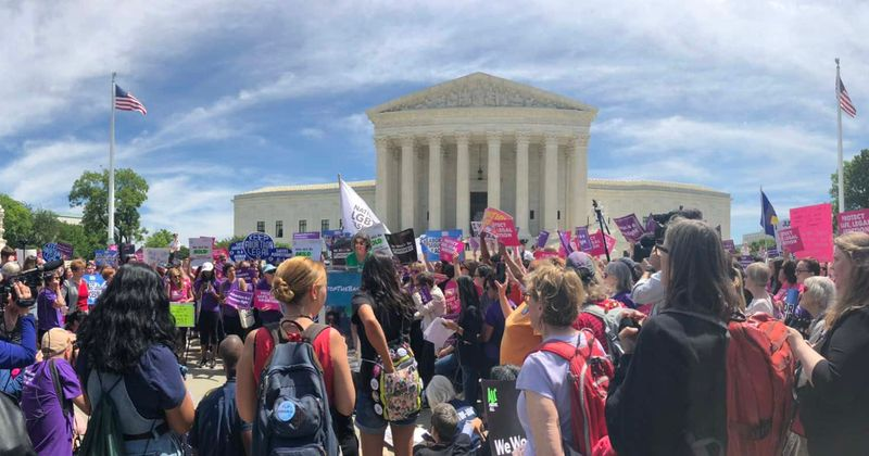 Thousands of women and rights groups march across US in #StopTheBans rallies to oppose anti-abortion bills