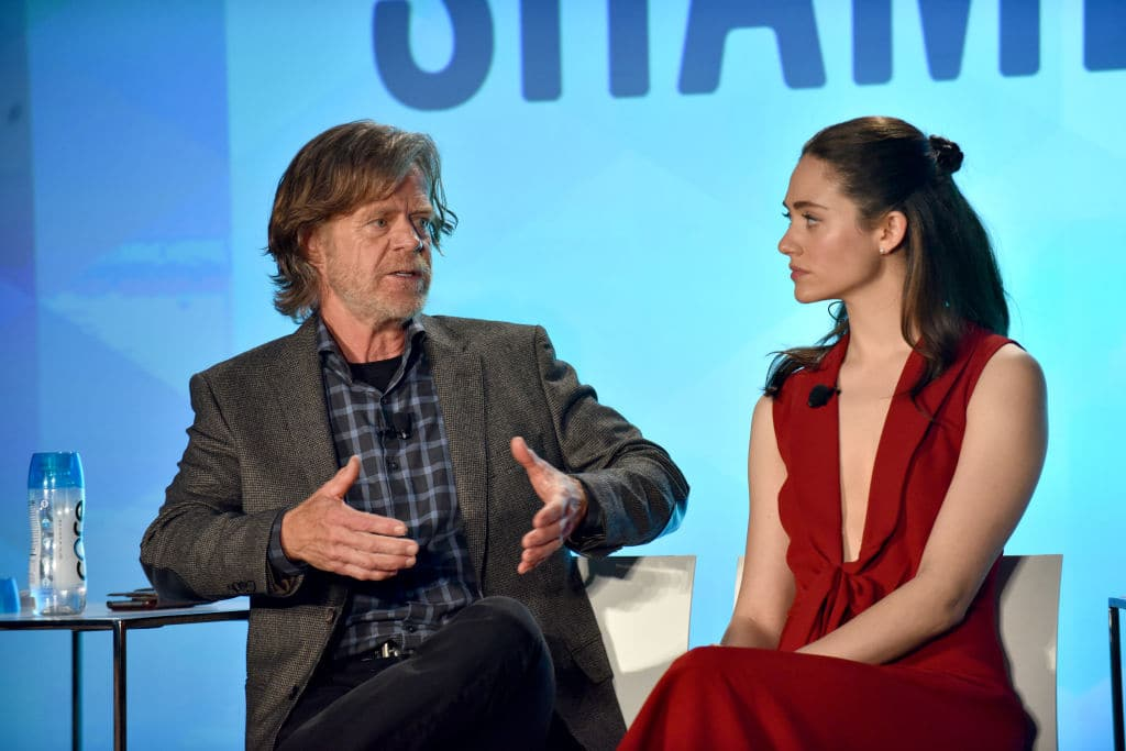 William H Macy and Emmy Rossum at the 2017 Vulture Festival (Getty Images)