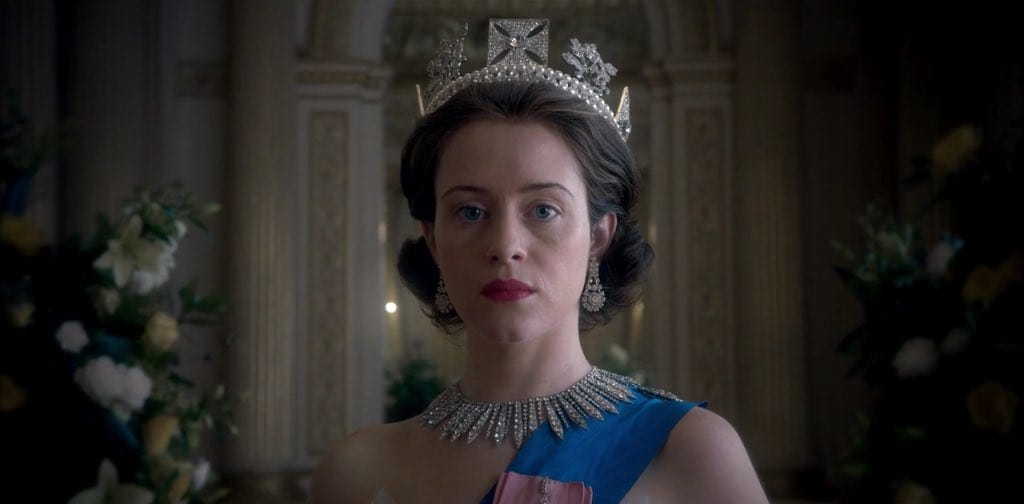 Claire Foy in 'The Crown' (Twitter)