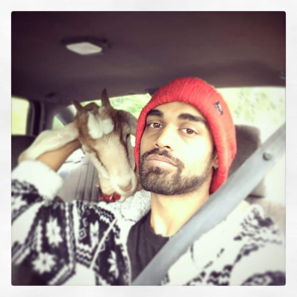 Sanjaya Malakar has a goat now. (Instagram)