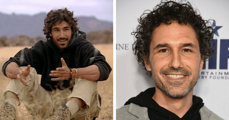 (L) Ethan Zohn then, (R) Ethan Zohn now (Twitter and Getty)