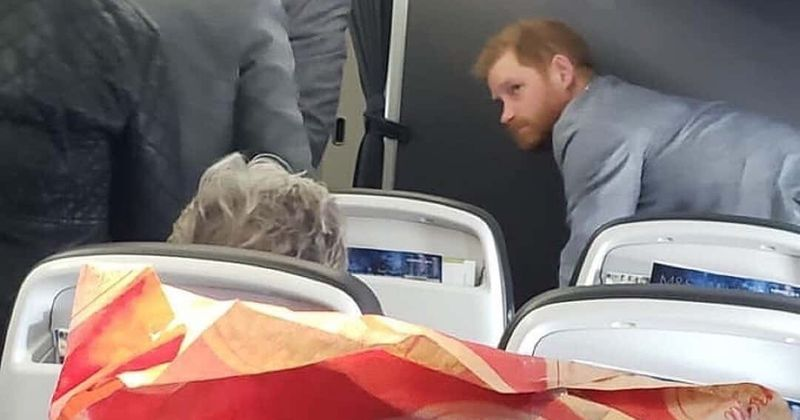 Shocked passenger spots a 'very tired' Prince Harry flying commercial on his way home from Rome