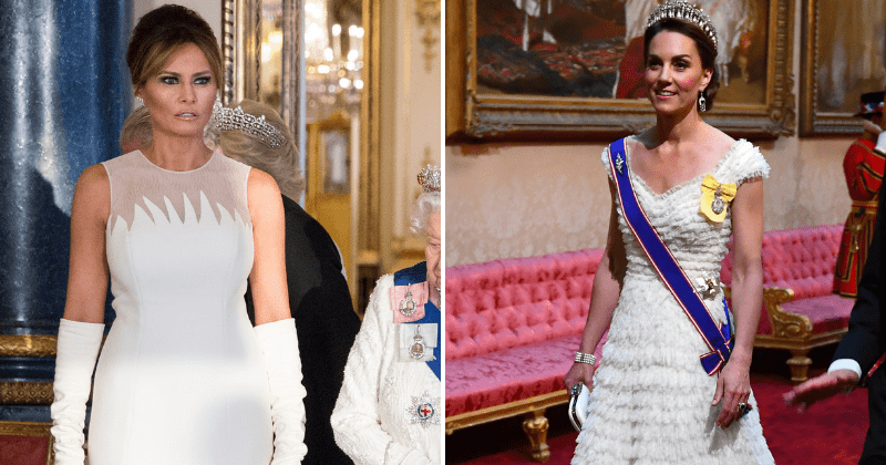 Melania Trump outshines Kate Middleton in stunning Dior dress at Buckingham Palace state banquet