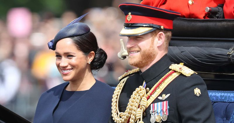 Meghan Markle stuns in navy outfit at Trooping the Colour in first royal engagement since giving birth to baby Archie