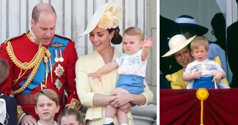 Prince Louis wears same outfit that Prince Harry wore as a toddler in 1986 for Trooping the Colour celebration
