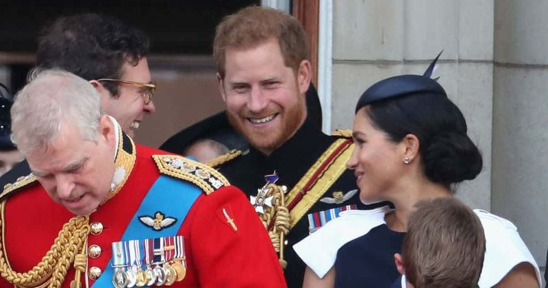 Footage shows Prince Harry curtly telling Meghan Markle to 'turn around' and face the crowd during Trooping the Colour, says expert