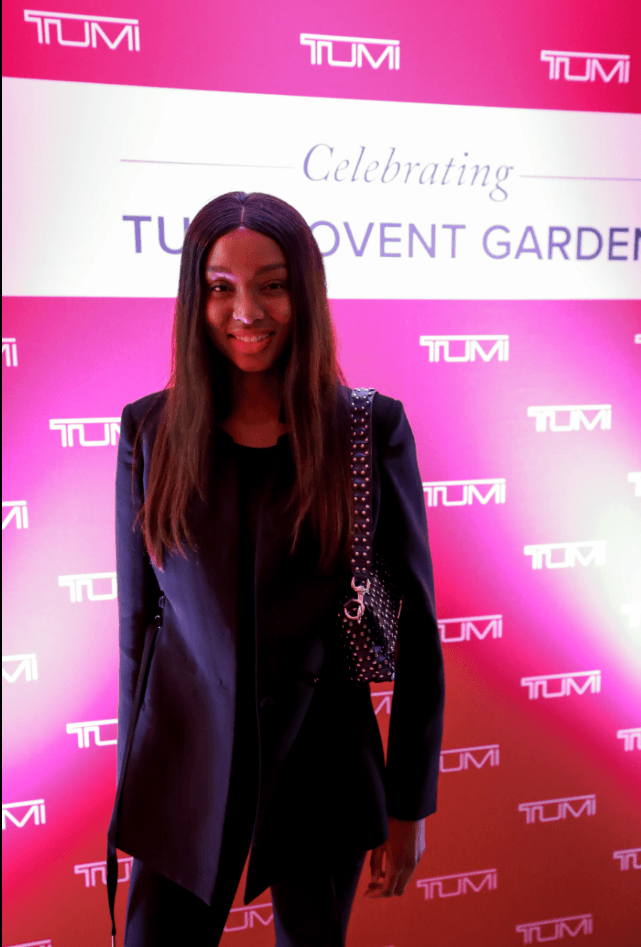 Model Vanessa Ndlovu attends the TUMI launch (TUMI)