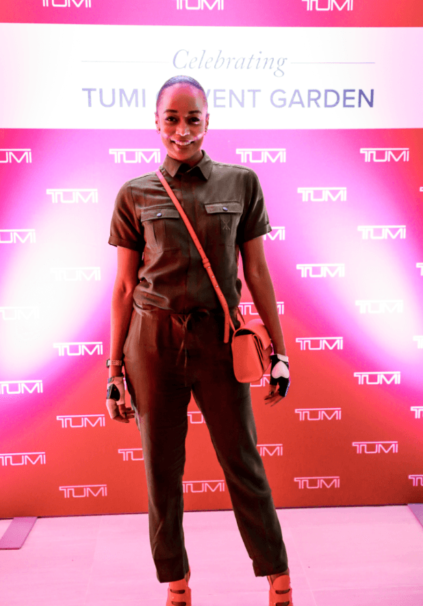 iHeart Radio presenter Annaliese Dayes poses at the TUMI launch (TUMI)