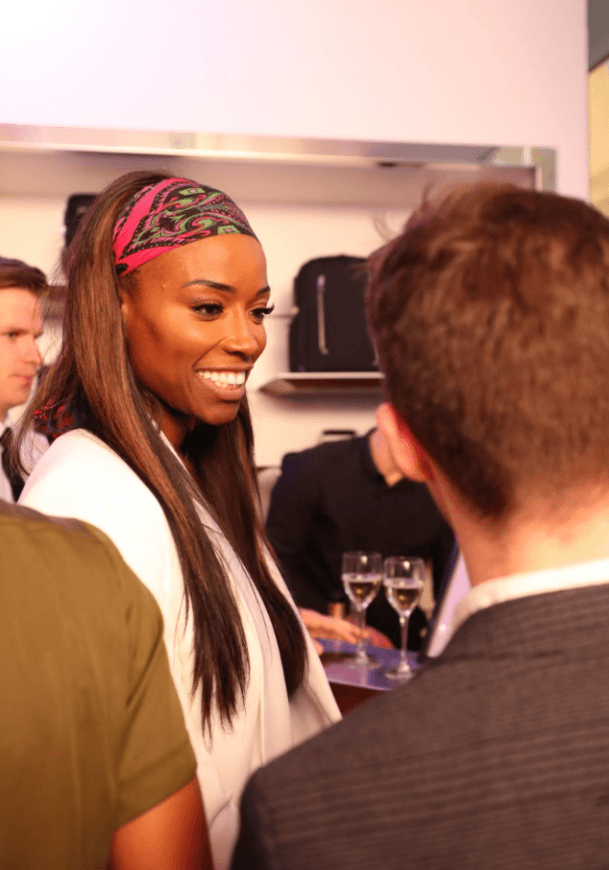 Loraine Pascale attends the TUMI launch in London (TUMI)