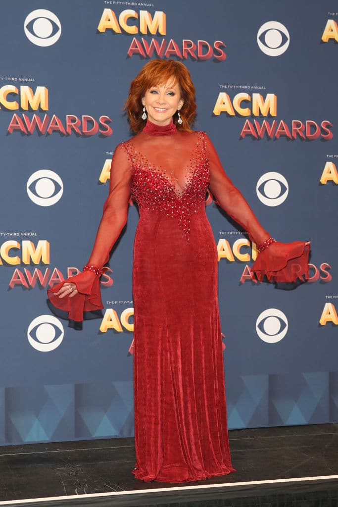 Reba McEntire hosted the show (Photo by Isaac Brekken/Getty Images for ACM)