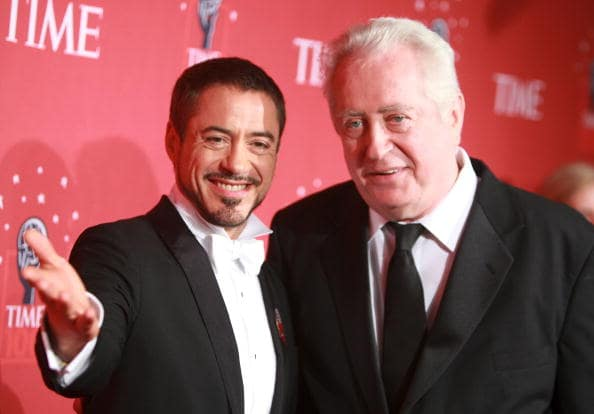 Robert Downey Jr. and his father Robert Downey Sr. (Getty)
