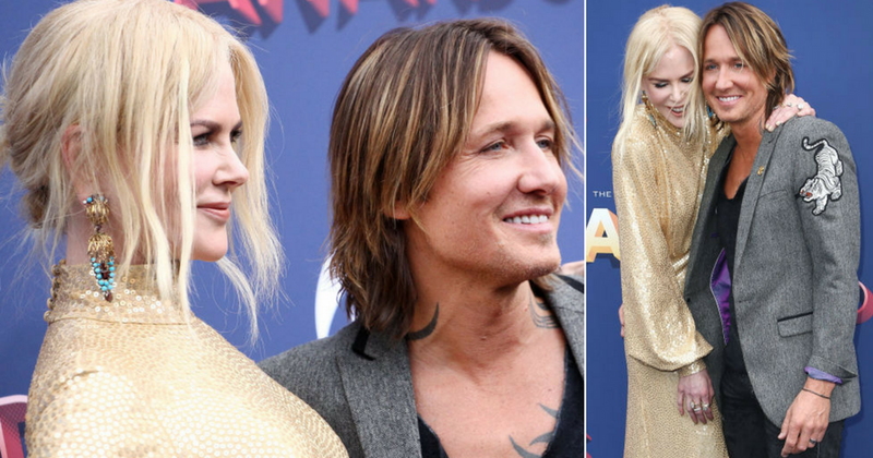 Shutting down break up rumors in style, Keith Urban and Nicole Kidman were seen cuddling on the AMC awards red carpet