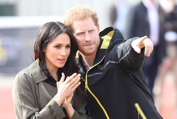 Meghan Markle and Prince Harry, Patron of the Invictus Games Foundation attend the UK Team Trials for the Invictus Games Sydney 2018 at the University of Bath Sports Training Village on April 6, 2018 in Bath, England. The Invictus Games Sydney 2018 will take place from 20-27th October and will see over 500 competitors from 18 nations compete in 11 adaptive sports. (Photo by Chris Jackson/Getty Images)