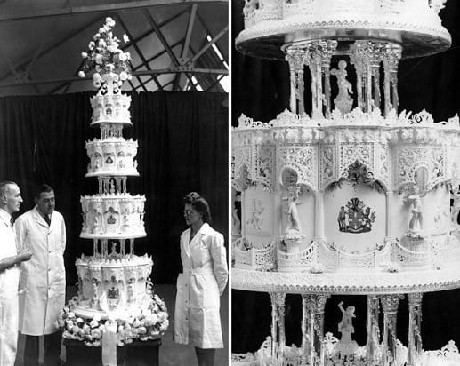 "The cake went on to be called ""The 10,000-Mile Wedding Cake"" because of its ingredients (Twitter)"