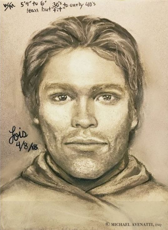This is a sketch of an unidentified man who threatened Stormy Daniels in 2011. Source: DJ Resist the Dotard/Twitter