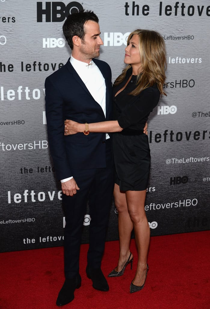 Actors Justin Theroux and Jennifer Aniston attend 'The Leftovers' premiere at NYU Skirball Center on June 23, 2014 in New York City. (Photo by Dimitrios Kambouris/Getty Images)