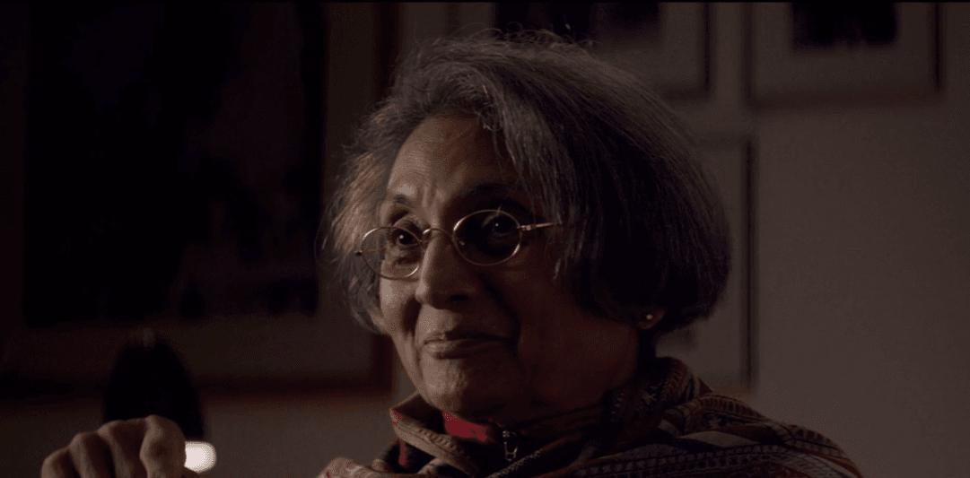 Sheelatalking about her past during the Netflix documentary. (Netflix)