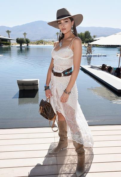 Olivia Culpo rocks a cowboy look (Getty Images)