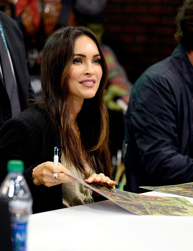 Actress Megan Fox attends an autograph signing at WonderCon 2016 to promote the upcoming release of Paramount Pictures' Teenage Mutant Ninja Turtles Out of The Shadows, on March 25, 2016 at the LA Convention Center in Los Angeles, California. (Photo by Frazer Harrison/Getty Images)