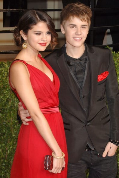 Selena with Justin (Getty Images)