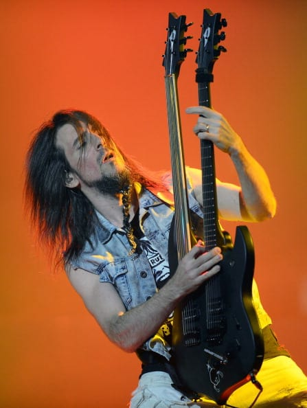 Ron 'Bumblefoot' Thal at The Joint inside the Hard Rock Hotel & Casino on May 21, 2014 in Las Vegas. (Photo by Ethan Miller/Getty Images)