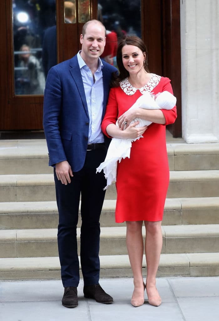 Kate and William welcomed their son on April 23 (Photo by Chris Jackson/Getty Images)