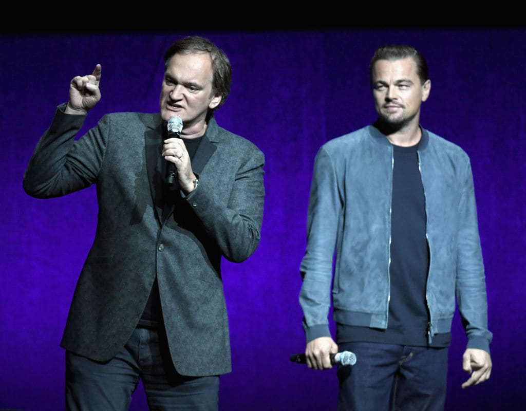 Quentin Tarantino and Leonardo DiCaprio at CinemaCon 2018 Gala Opening Night Event in Las Vegas. (Photo by Isaac Brekken/Getty Images for CinemaCon)