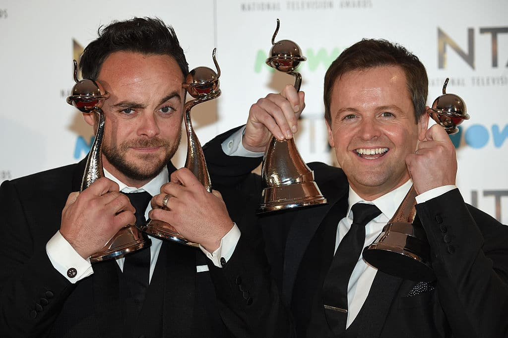 The iconic TV host duo of Ant and Dec will not be returning to the silver screen this year after Ant's drink and drive encounter. (Image Source: Anthony Harvey/Getty Images)