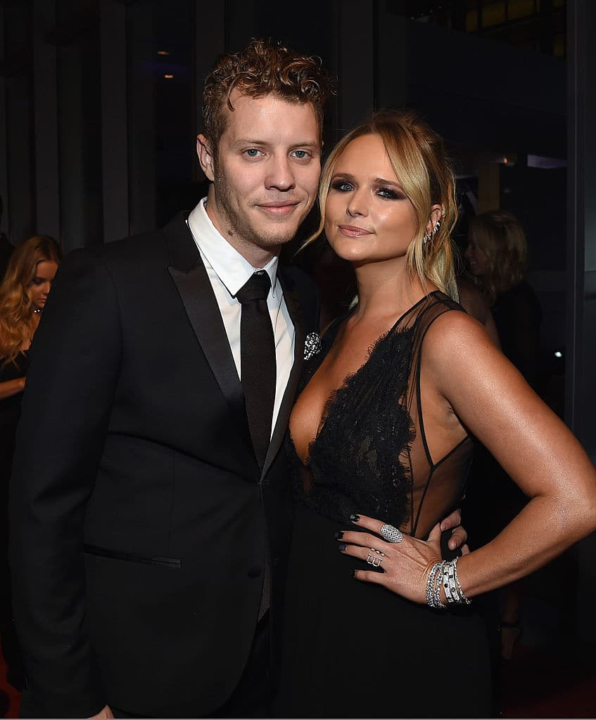 Anderson East and Miranda Lambert attend the 50th annual CMA Awards at the Bridgestone Arena on November 2, 2016 in Nashville, Tennessee. (Photo by Rick Diamond/Getty Images)