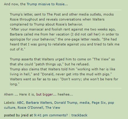 Joy Reid looks to be on Team Donald according to this blog post. (Source: Facebook)