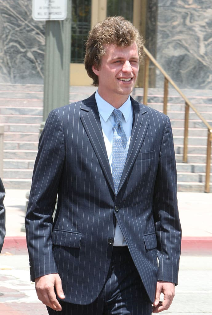 Conrad Hilton attends court for sentencing after causing a disturbance aboard an international flight from London to Los Angeles last summer at Roybal Federal Building on June 16, 2015 in Los Angeles, California (Photo by David Buchan/Getty Images)
