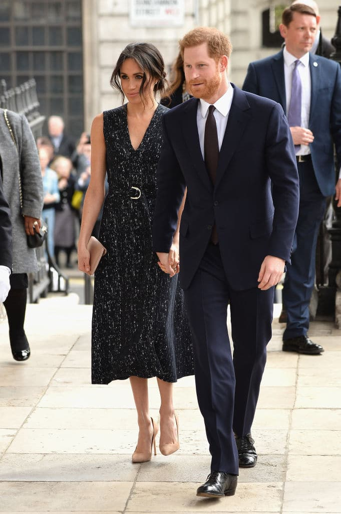 Prince Harry and Meghan Markle attend the 25th Anniversary Memorial Service to celebrate the life and legacy of Stephen Lawrence at St Martin-in-the-Fields on April 23, 2018 in London, England. (Photo by Jeff Spicer/Getty Images)