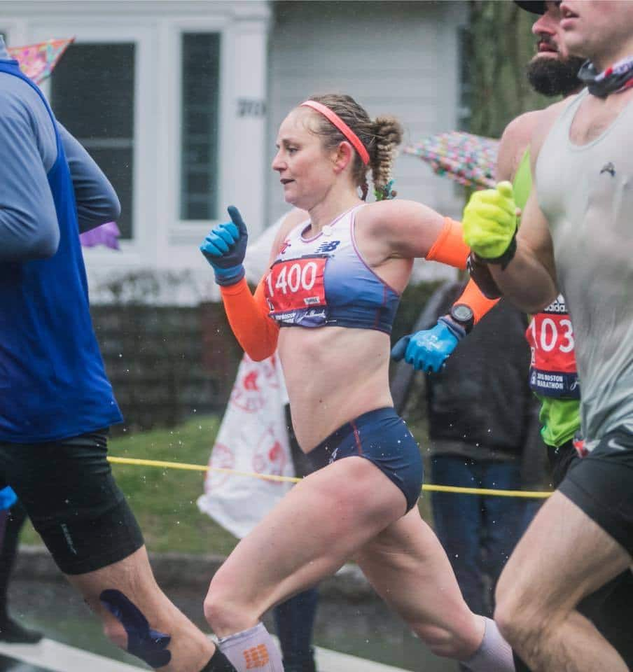 TUXC/TF Alum Veronica Jackson. 13th Overall Female 2018 Boston Marathon. (Source: Facebook)