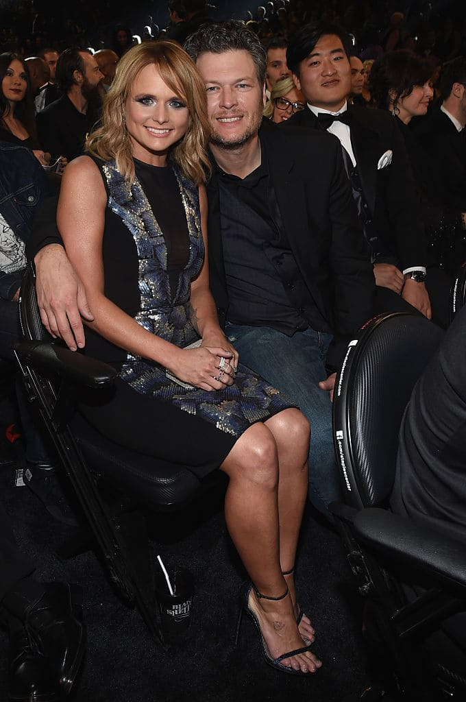 Recording Artists Miranda Lambert and Blake Shelton attend The 57th Annual GRAMMY Awards at the STAPLES Center on February 8, 2015 in Los Angeles, California. (Photo by Larry Busacca/Getty Images for NARAS)