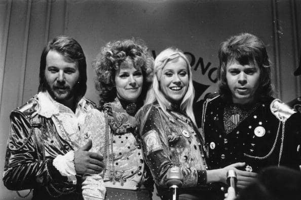 Swedish pop group Abba, winners of the 1974 Eurovision Song Contest. (Photo by Evening Standard/Getty Images)
