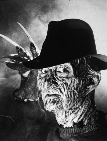 "Lilley was inspired by her ""hero"" Freddy Krueger (Photo by Hulton Archive/Getty Images)"