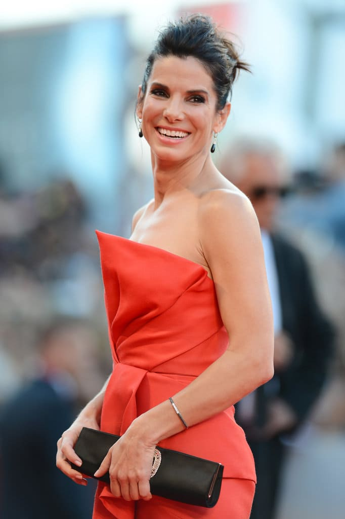Actress Sandra Bullock attends the Opening Ceremony And 'Gravity' Premiere during the 70th Venice International Film Festival at the Palazzo del Cinema on August 28, 2013 in Venice, Italy. (Photo by Ian Gavan/Getty Images)