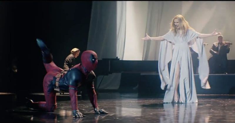 Image result for celine dion x deadpool mv ashes