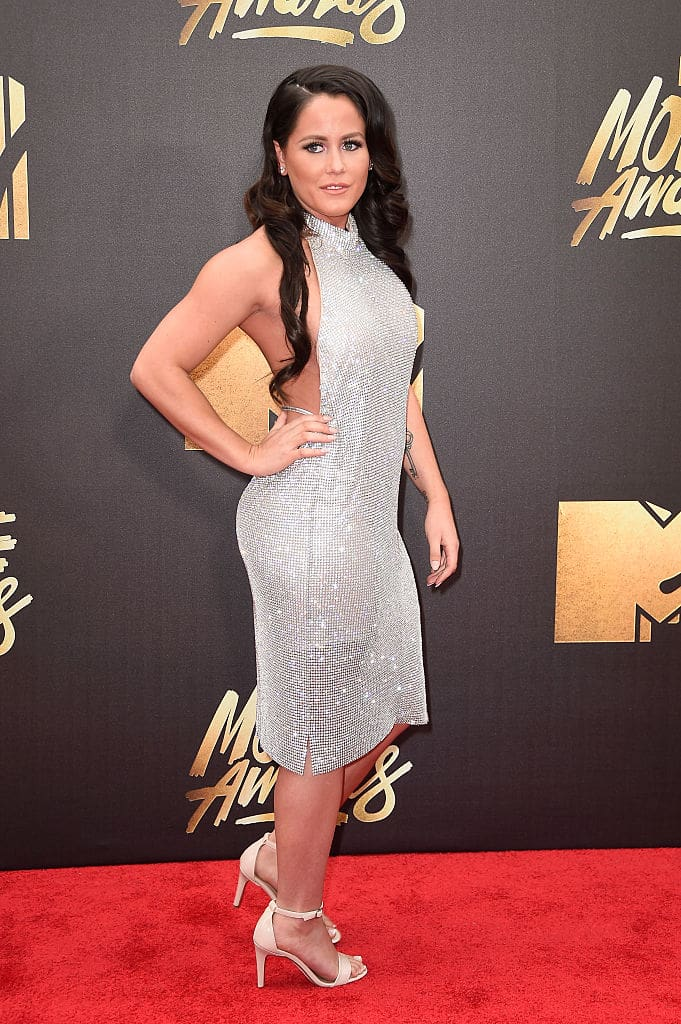 TV personality Jenelle Evans attends the 2016 MTV Movie Awards at Warner Bros. Studios on April 9, 2016 in Burbank, California. MTV Movie Awards airs April 10, 2016 at 8pm ET/PT. (Photo by Frazer Harrison/Getty Images)