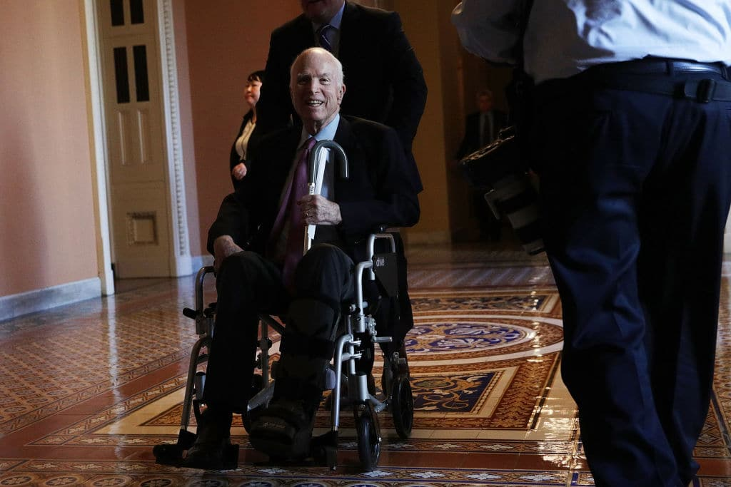 The Senator is reportedly receiving a stream of visitors at his ranch in Arizona. (Getty Images)