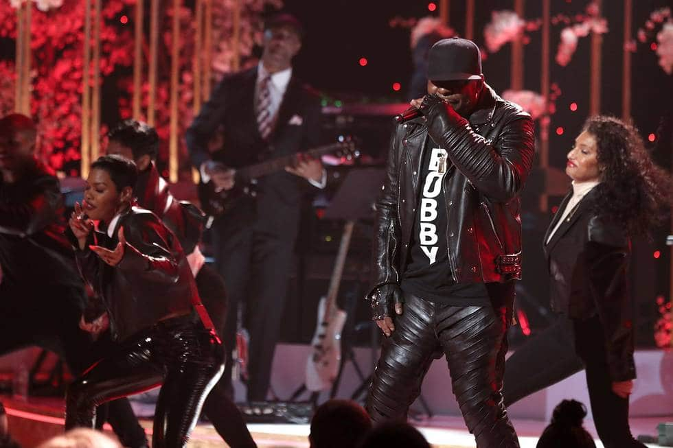 Surprise guest Bobby Brown performs on stage with Teyana Taylor. (Source: Slate PR)