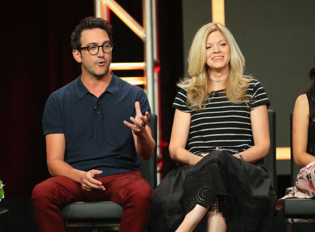 Josh Swartz and Stephanie Savage from the production studio Fake Empire (Getty Images)