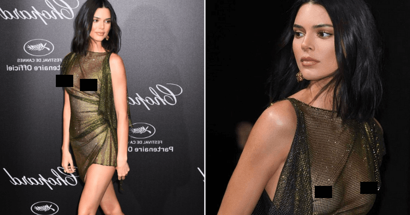 Kendall Jenner goes nearly nude at crazy party in Cannes