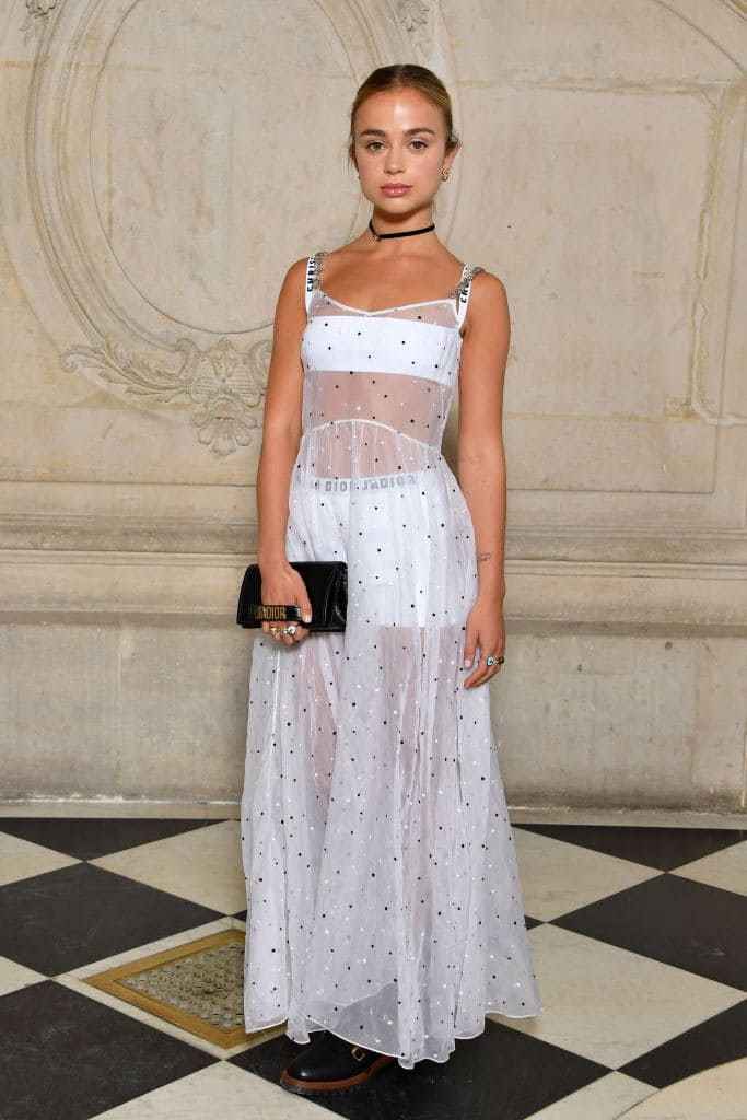 Lady Amelia Windsor attends the Christian Dior show as part of the Paris Fashion Week Womenswear Spring/Summer 2018 on September 26, 2017 in Paris, France. (Photo by Pascal Le Segretain/Getty Images for Dior)