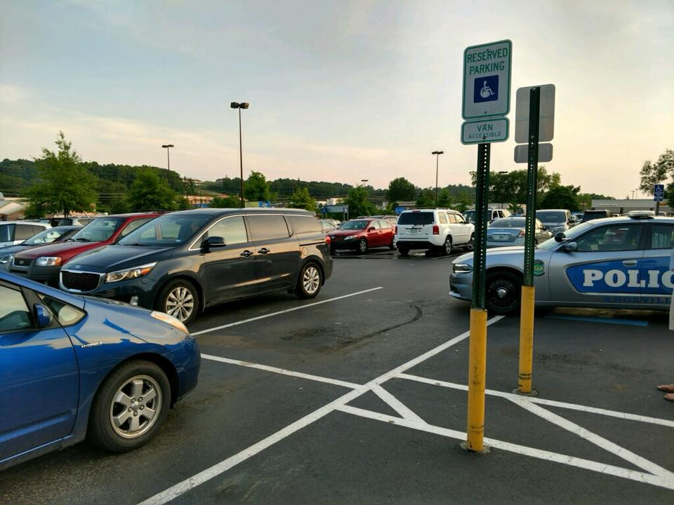 The parking lot outside Kroger Marketplace in Knoxville. (Knoxville Police Department)